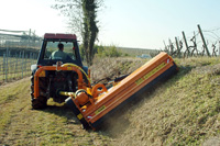 Offset/in-line mulchers