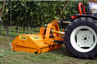 Mulchers for vineyard