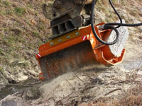 Hydraulic mulching heads to fit big size excavators (from 11 to 35 Tons)