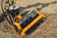Hydraulic mulching heads for mini-excavators (from 1.5 to 5.5 Tons)